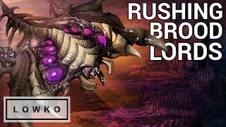 StarCraft 2: RUSHING FOR BROOD LORDS!