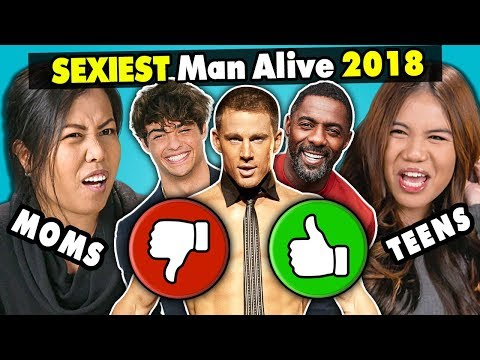 Xxx Mp4 Moms Daughters React To The Sexiest Men Alive 2018 3gp Sex