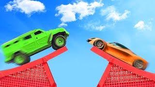 SMASH THE CARS MID AIR! (GTA 5 Funny Moments)