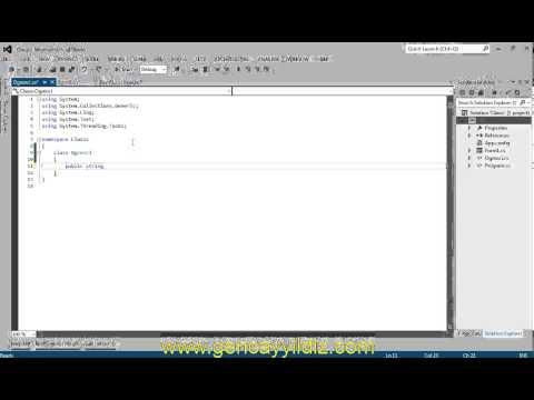 C# Nesne Tabanlı Programlama - Class Kavramı ve Nesne Oluşturma