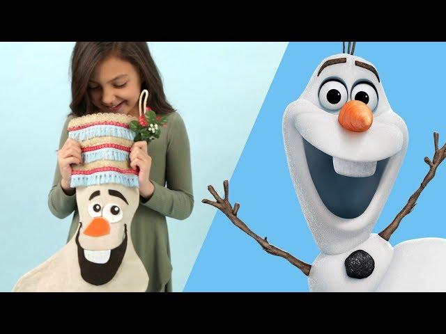 How to Make an Olaf Stocking | Disney Family