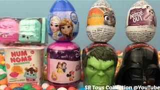 Kids Surprise Toys Num Noms Zootopia Inside Out Chocolate Eggs Minnie Mouse Shopkins Hulk Star Wars