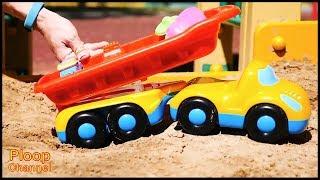 Choo-Choo Train FACTORY! - Blaze Toy Trucks Sandpit Game for kids - kids toys videos for children