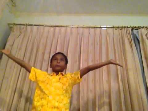 Indian boy singing thai