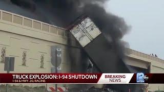 2 semi-truck drivers killed in fiery crash on I-41/94 in Racine County