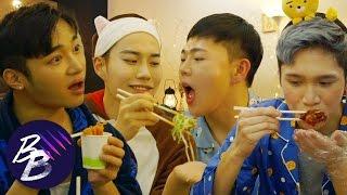 E36💋 Slumber Party Part 1: Korean Delivery Food Mukbang    BeautyBeasts