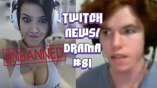 Twitch Drama/News #81 (CinCinBear Unbanned, MrDeathMoth Abuse, Car Crash Live)