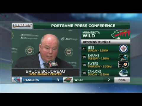 Wild's Boudreau: 'There's so many turnovers ... it's ridiculous'