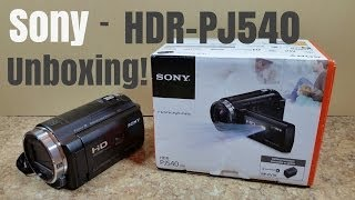 Sony HDR-PJ540 Handycam Projector Camcorder - WIFI NFC - Unboxing!
