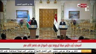الرئيس السيسي : مصر تحرص على دعم أمن واستقرار جنوب السودان