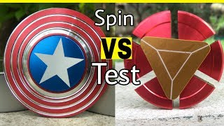 CAPTAIN AMERICA Fidget Spinner VS IRON MAN Fidget Spinner || SPIN TEST Cheapest Fidget Spinner Delhi