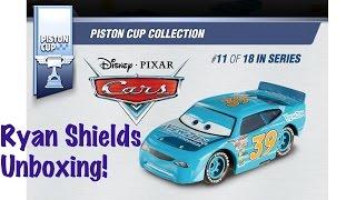 Disney Pixar Cars - #39 Ryan Shields by Mattel Piston Cup Series Diecast Toy Unboxing