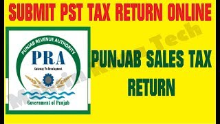 How to Submit PST Tax Return File Online in Pakistan