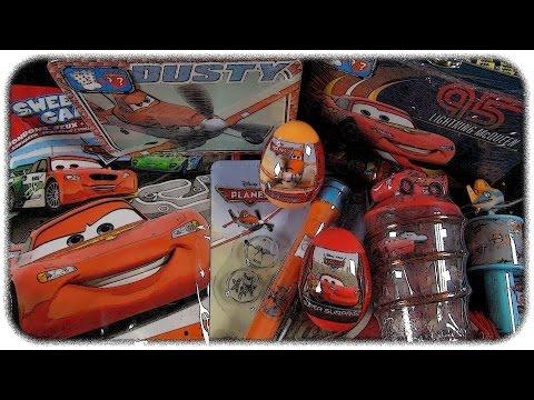 ✪✪ Disney Cars & Planes ✪✪ Surprise Egg & Bag & Lunchbox & Candy Toys Mega Unboxing