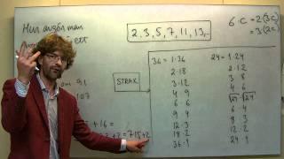 Ma1C: Hur avgör man om ett tal är ett primtal?