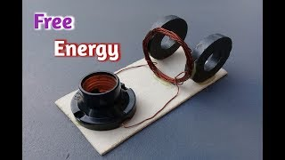 new free energy experiment using magnet and copper coil _ science experiment 2019