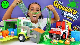 Gross Slime Grossery Gang Muck Chuck Garbage Truck - Clean Team Street Sweeper Playsets