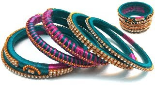 Easy and Simple bangles | Making silk thread bangles | Latest silk thread bangle making at home