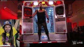 WWE Raw 6/19/17 Braun returns in Ambulance | Reigns vs Samoa Joe