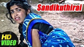 Sandikuthirai Tamil Movie | Keerthi attacked by Villain | Ganja Karuppu | Manasa | New Tamil Movie