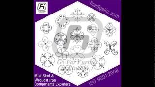 Wrought Iron Rosettes www.finedgeinc.com