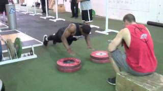 Training for NFL Tryouts at California Strength - 2012