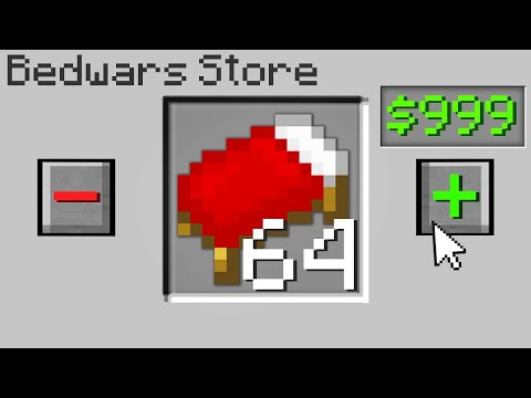 Minecraft Bedwars but I can order any item in the game