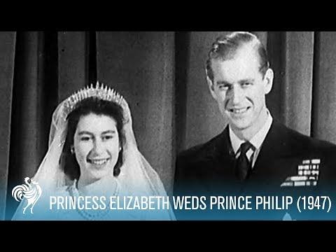 A Royal Wedding Princess Elizabeth Weds Philip 1947 British Pathé