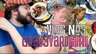 EPIC POG BATTLE! 90s TOYS!   VLOG #3   GRAV3YARDGIRL