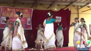 Thiruvathira - School Kalolsavam 2014 (BBHS Nangiarkulangara)  up 1 prize