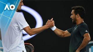 Tomic v Estrella Burgos match highlights (2R) | Australian Open 2017