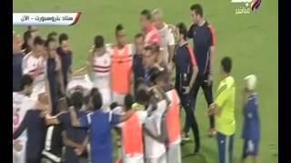 مشادة بين باسم مرسى و مصطفى فتحى تنتهى بالتصالح و مرتضى يطرد عمرو المطراوى من الملعب