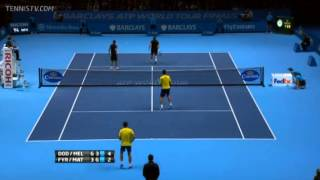 Dodig & Melo Vs Fyrstenberg & Matkowshi Barclays ATP World Tour Finals Group A Match Point