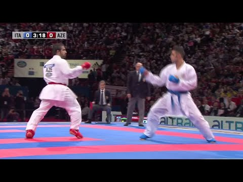 Final Male Kumite -75kg. Luigi Busa vs Rafael Aghayev. World Karate Championships 2012