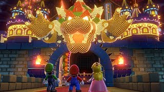 Super Mario 3D World - All Final Castles (3 Player)
