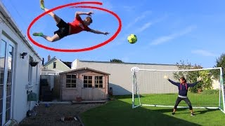 JUMPING OFF MY ROOF FOOTBALL CHALLENGE!!