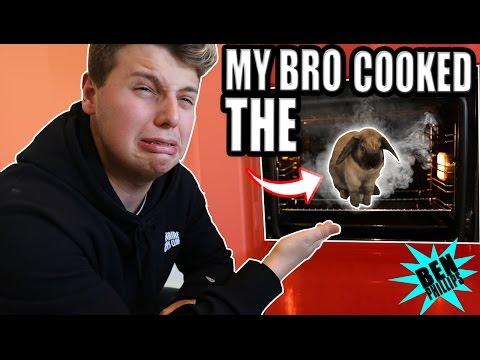 My bro cooked my rabbit! **PRANK!**