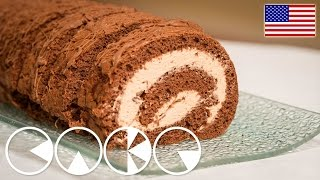Creamy and chocolaty: CHOCOLATE CAKE ROLL