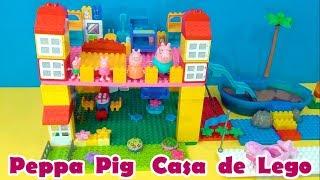 Peppa Pig Casa de Lego com Toboágua - Peppa Pig Lego House with waterslide