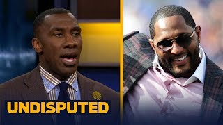 Shannon Sharpe reacts to Ray Lewis' 'I wasn't protesting, I was praising God' comment    UNDISPUTED