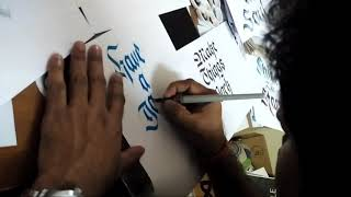 Manoj Kumar - 3D (Maya) Faculty, BIT Noida, Animation Multimedia Dept. Calligraphy Talent