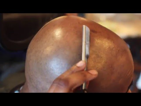 How To Shave Your Head With Straight Razor | Bald Head Shave
