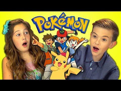 KIDS REACT TO POKEMON Retro TV