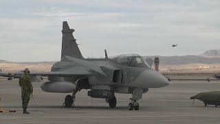 Swedish J-39 Gripen Fighters (HD)