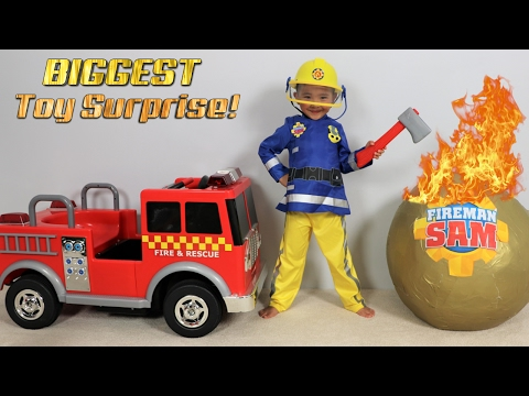 Xxx Mp4 BIGGEST Fireman Sam Toy Collection Ever Giant Surprise Egg Opening Fire Engine Truck Ckn Toy 3gp Sex