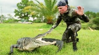 Gator Saved from Hunter's Bullet | Gator Boys