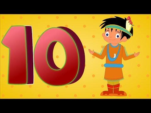 Ten Little Indians | Ten Little Indian Boys | Nursery Rhymes | Numbers Song
