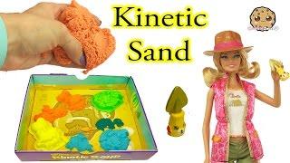 Kinetic Sand Dino Dig with Barbie Doll + Jurassic World Dinosaur Surprises - Cookieswirlc