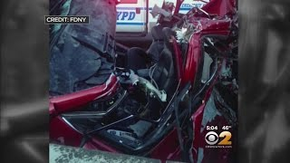 Driver Rescued From Crushed Car