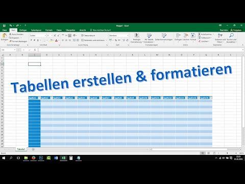 Excel Tabelle erstellen und formatieren [Tutorial, 2016, 2013, Teil 3]